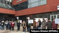Акция в память о Борисе Немцове (Новосибирск, 27 февраля 2016 года)