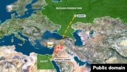 Шәрм-әш-Шәихтән Казанга очкан очкычның юлы