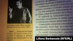 Imaginea lui Stalin într-un manual de istorie