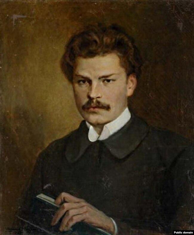 Валянцін Волкаў. Партрэт Максіма Багдановіча, 1927 г.