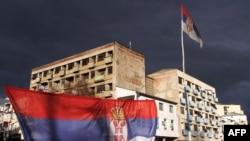 Zastava Srbije u Mitrovici