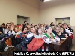 Представники української діаспори в залі суду над Віталієм Марківим, Павія, лютий 2019 року