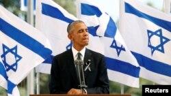 АҚШ президенті Барак Обама Израильге сапары кезінде. 30 қыркүйек 2016 жыл.