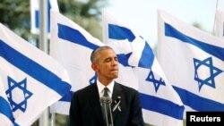 Бывший президент США Барак Обама во время посещения Израиля. 30 сентября 2016 года.