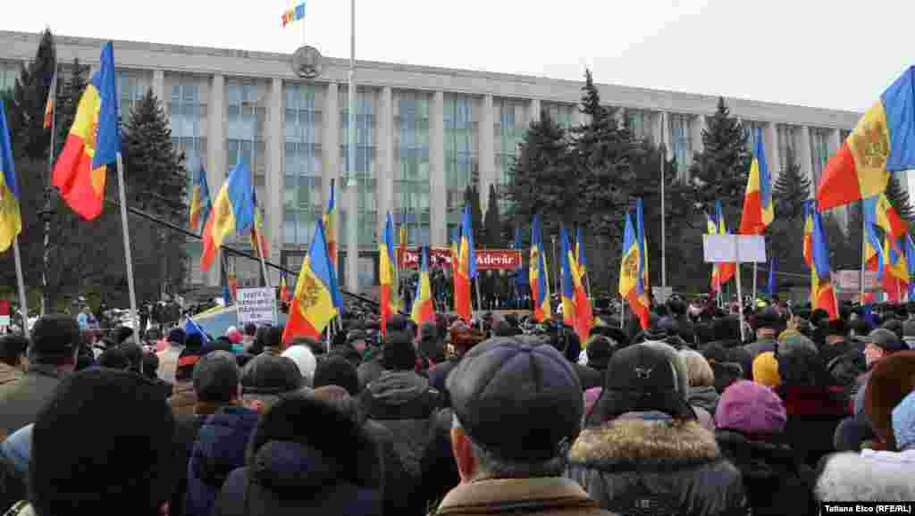 Platforma DA a organizat în PMAN unul dintre cele trei proteste care au avut loc astăzi în Chișinău.