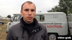 Ұлттық ядролық орталық маманы Виталий Романенко. Калачи ауылы, 7 қыркүйек 2014 жыл.