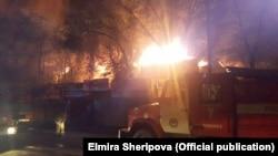 Пожар на Ошском рынке. 13 апреля 2018 года.