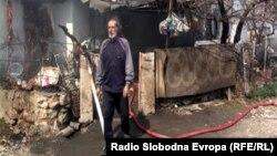 Опожарената куќа на семејството на Селајдин Јашароски од Прилеп.