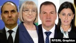 (Left to right) Tsvetan Tsvetanov, Tsetska Tsacheva, Krasimir Parvanov, and Vanya Koleva were all forced to resign senior Bulgarian government positions after being implicated in a corruption scandal. (combination file photo)