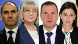 (Left to right:) Tsvetan Tsvetanov, Tsetska Tsacheva; Krasimir Parvanov and Vanya Koleva were all senior Bulgarian government officials who were forced to resign after being implicated in a corruption scandal. (combination file photo)