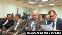 كربلاء: رجال اعمال خلال حفل افتتاح مركز استشاري خاص بالاستثمار