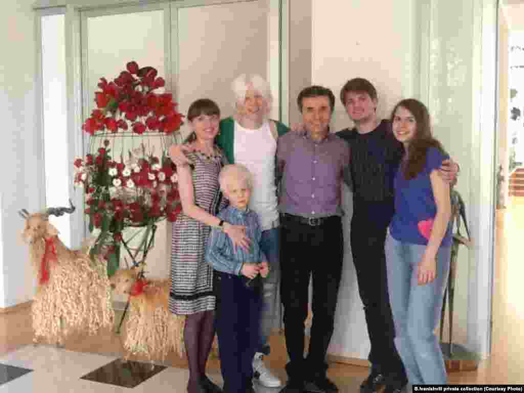 The Ivanishvili family at their home in Tbilisi: the children, from oldest to youngest, are Uta, Bera, Gvansa, and Tsotne.