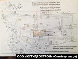 План Феодосійського порту з розміщенням терміналу