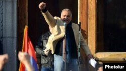 Armenia - Raffi Hovannisian, leader of Zharangutiun Party, addresses the rally in Liberty Square in Yerevan,2Mar,2013