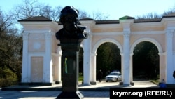 Aqmescitteki Taras Şevçenko eykeli, arhiv fotoresimi