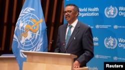 تدروس آدهانوم گبریسوس رئیس این سازمان صحی جهان(WHO)