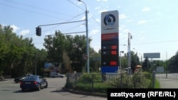 Жанармай құю бекеті. Алматы, 2 шілде 2012 жыл. (Көрнекі сурет)