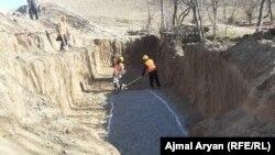 آرشیف٬ جریان کار ساخت یک کانال در افغانستان