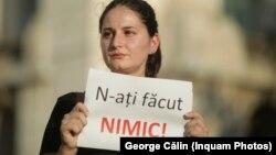 Protest împotriva ineficienței autorităților române