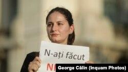 Protest feminist după cazul Caracal