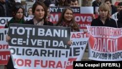 La un protest al Partidului Socialiștilor