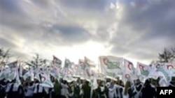 Акция сторонников «Яблока» в Москве. Декабрь 2005 года