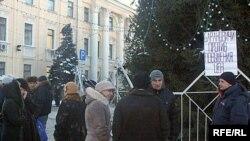 Акцыя прадпрымальнікаў у Баранавічах 12 студзеня