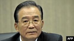 China's Premier Wen Jiabao at a press conference during the 12th EU-China summit in Nanjing on November 30