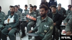 A training session for Afghan National Police
