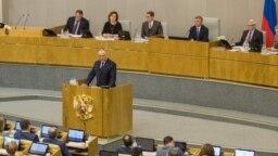 Președintele Igor Dodon vorbind în Duma de Stat la Moscova