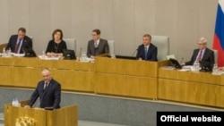 Выступление президента Молдовы Игоря Додона в Госдуме России