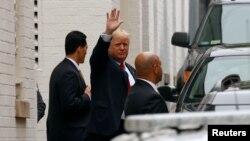 Donald Trump arrin në Komitetin Kombëtar Republikan për takim me kryetarin e Dhomës së Përfaqësuesve, Paul Ryan. Uashington, 12 maj, 2016.