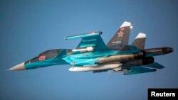Расейскі зьнішчальнік Су-34, ілюстрацыйнае фота