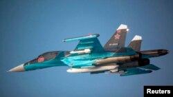 Ресейлік Су-34 ұшағы.