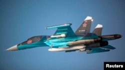 Rusiyanın Su-34 zərbə təyyarəsi (Arxiv)
