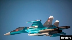 Pamje e aeroplanit luftarak rus të tipit Su-34 Fullback