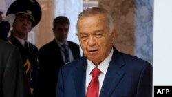 Өзбекстан президенті Ислам Каримов Минск саммитінде. 10 қазан 2014 жыл