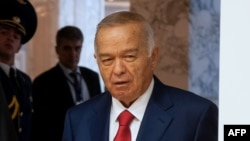 Президент Узбекистана Ислам Каримов. Минск, 10 октября 2014 года.
