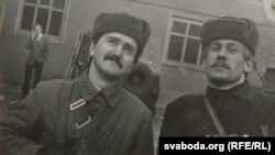 Сяргей Астраўцоў і Ігар Гермянчук, вайсковая катэдра БДУ, 1984