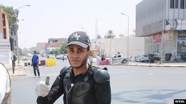 A Libyan rebel fighter
