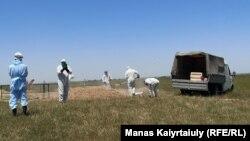 Похороны на кладбище для умерших от коронавируса. Алматинская область, 25 мая 2020 года.