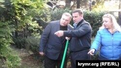 Голова адміністрації Ялти Андрій Ростенко з радником з культури Андрієм Разіним