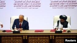 قطر کې د امریکا او طالبانو ترمنځ د فبرورۍ میاشتې تړون