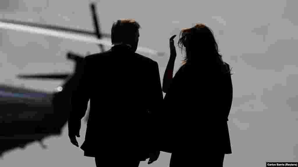 САД - Првата дама на САД, Меланија Трамп, која на 20 јануари ја напушта Белата куќа заедно со сопругот Доналд Трамп, кога му истекува претседателскиот мандат, со порака ѝ се обрати на американската нација. Во видео пораката, што синоќа беше објавена на веб-страницата на Белата куќа, таа вели дека најголемата чест во нејзиниот живот е што била прва дама на САД.