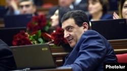 Armenia - Deputy Vartan Ayvazian attends a parliament session in Yerevan, 7Apr2015.