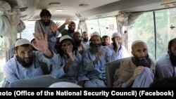 Some of the 100 Taliban prisoners released on May 25.