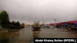 شارع في دهوك بعد المطر