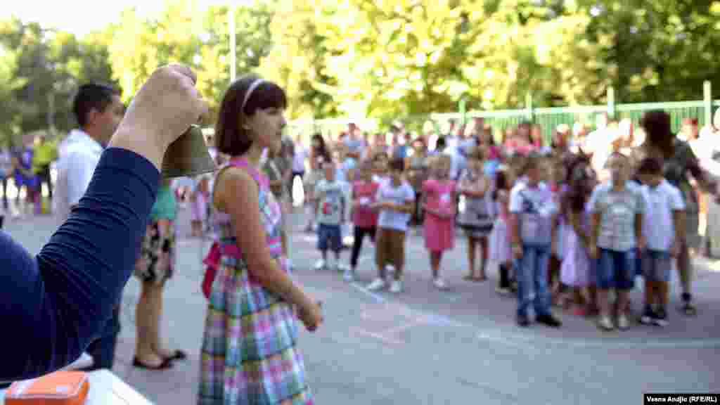 The first day of school at the Majka Jugovica elementary school in Belgrade