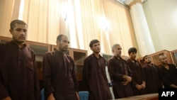 The five men had been sentenced to death in swift trials earlier this month.