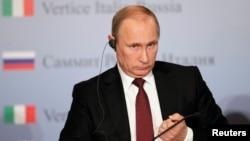 Володимир Путін на прес-конференції у Трієсті, 26 листопада 2013 року